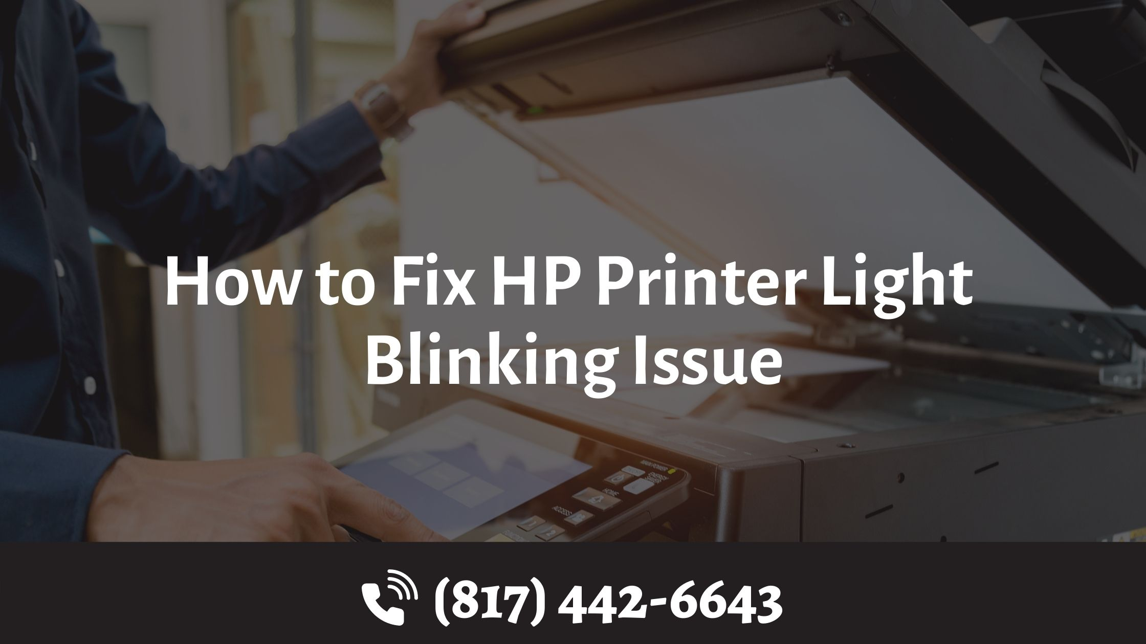 How to Fix HP Printer Light Blinking Issue